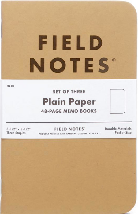 Field Notes Original Kraft Notebook  set of three - Blesket Canada