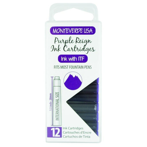 Monteverde Standard Cartridges - Pack of 12 - Blesket Canada