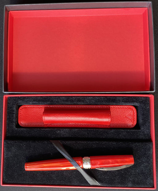 Visconti Mirage Red Gift Set Fountain Pen Medium with matching Pen Pouch - Blesket Canada