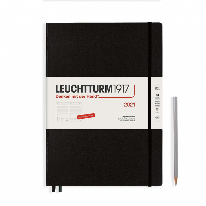 Leuchtturm1917 Daily Master (A4+) 2021, Black, English - Blesket Canada