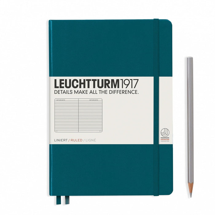 Leuchtturm 1917 MEDIUM (A5) HARDCOVER NOTEBOOK-249 NUMBERED PAGES - Blesket Canada