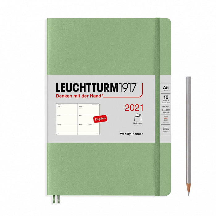 Leuchtturm 1917 Weekly Planner A5 2021, Softcover, Medium, English - Blesket Canada