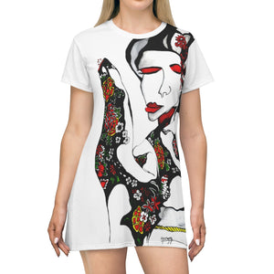 All Over Print T-Shirt Dress by Amra Metic