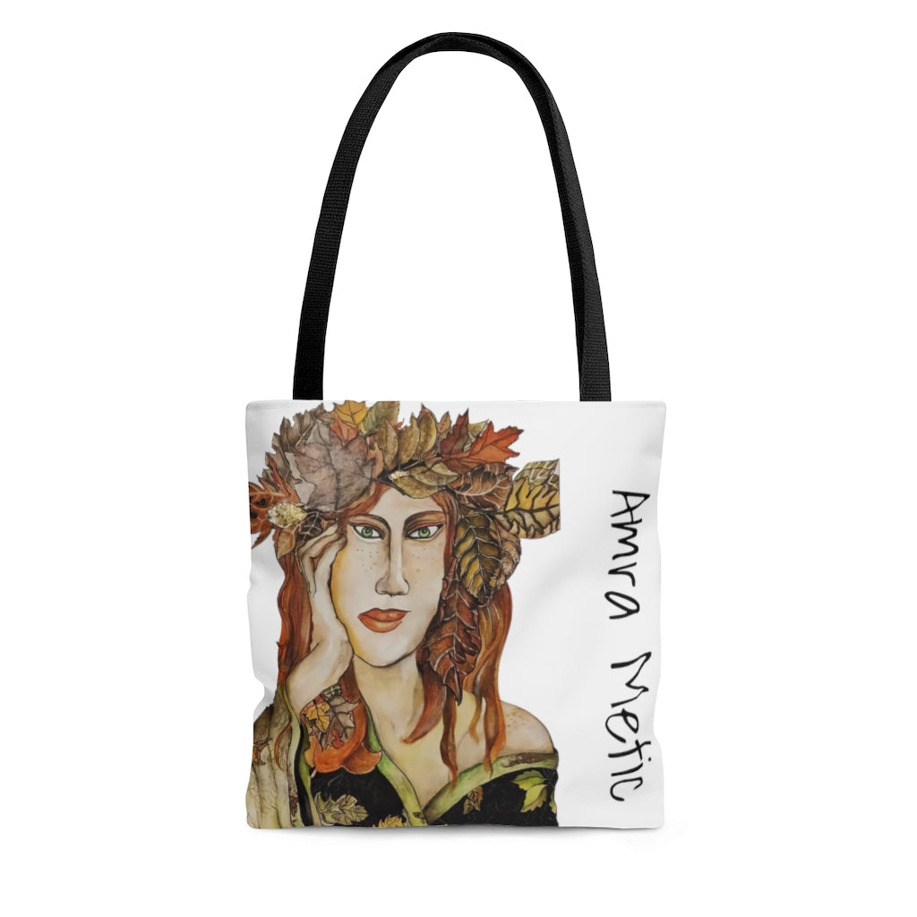 "Design Limited Addition Tote Bag fra Amra Metic ""Autumn Girl"""