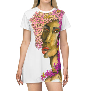 "All Over Print T-Shirt Dress by Amra Metic ""Flower Girl"""