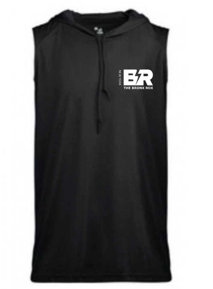 THE BRONX ROX SLEEVELESS HOODED TEE