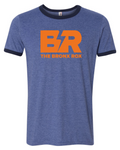 MEN'S BLUE AND NAVY TRIM/ORANGE LOGO