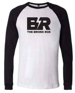 MEN'S WHITE/BLACK SLEEVES BASEBALL TEE
