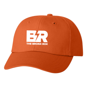 ORANGE CAP/WHITE LOGO
