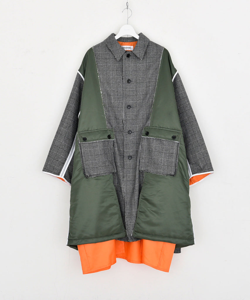 Check nylon coat