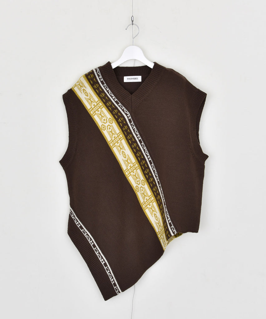 Showl knit vest