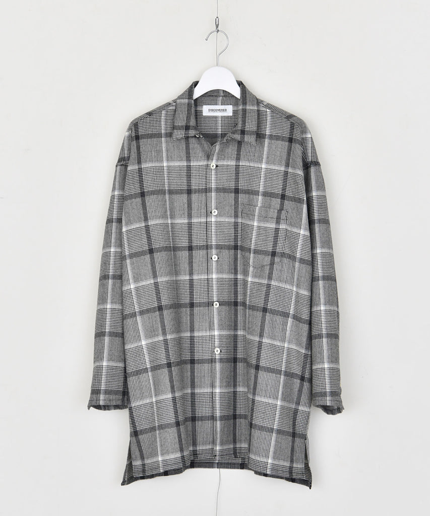 Check wool shirt
