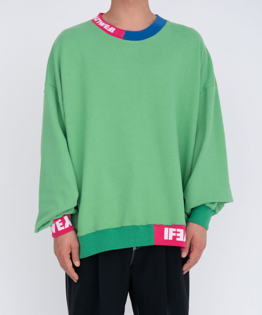 Jacquard rib sweat[サンプル品]