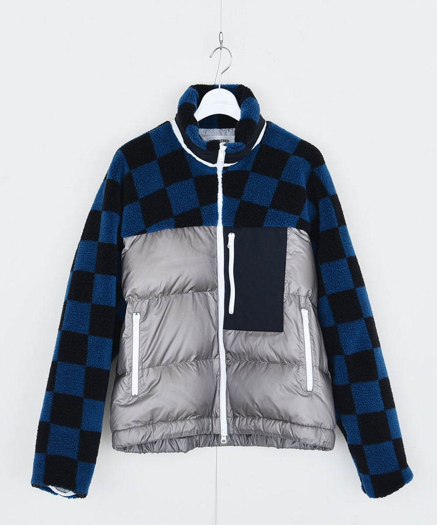 Checker boa down blouson