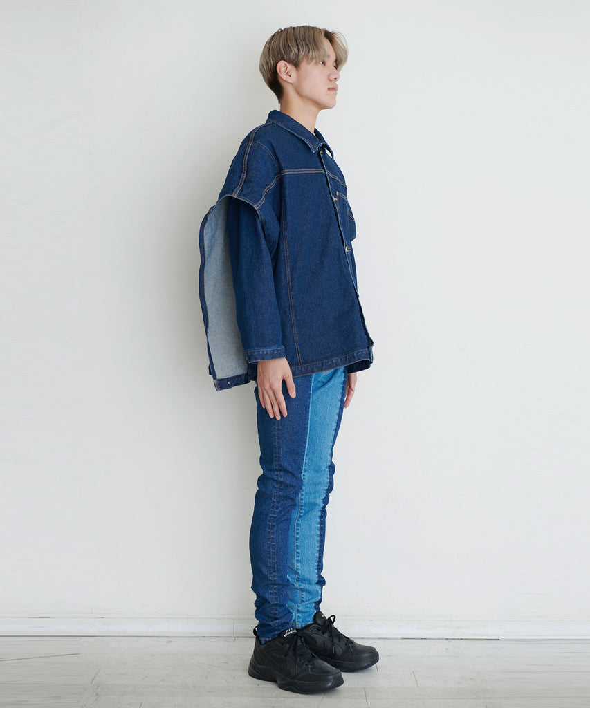予約商品|12,5oz Stretch Denim Layered Blouson
