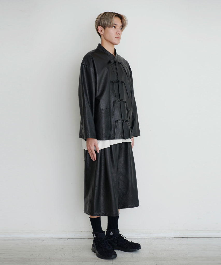 予約商品|Cow Leather China Shirt Blouson