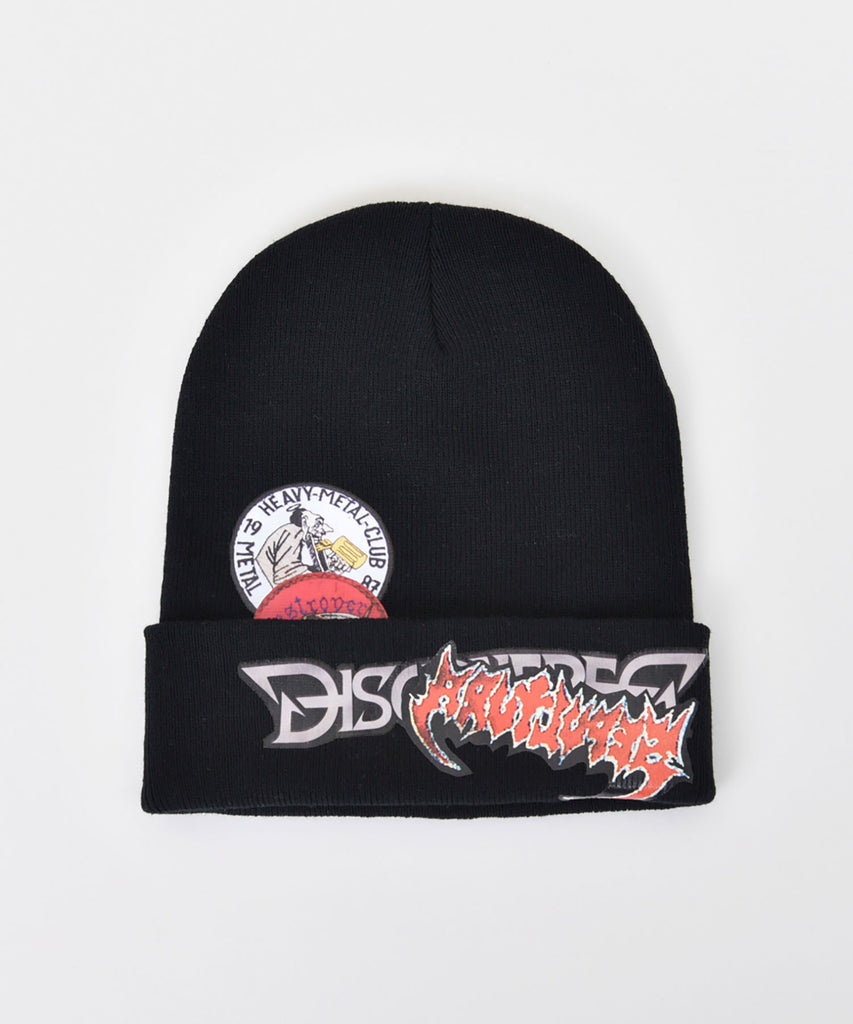 Very Metal sticker knit cap