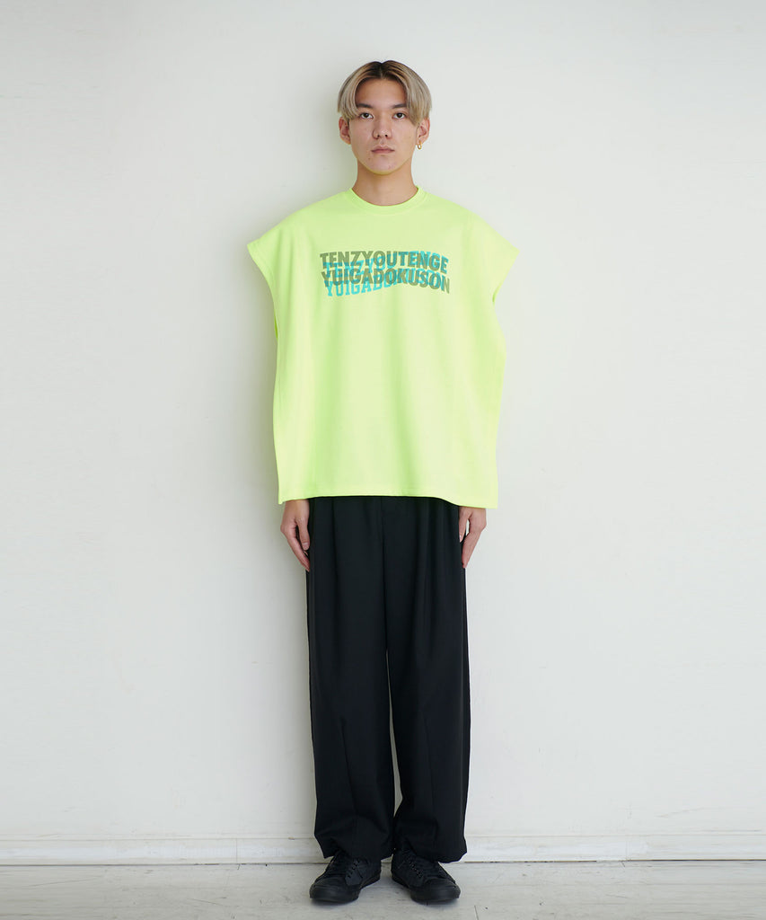予約商品|Bonding Knit Layered Nosleeve Tee