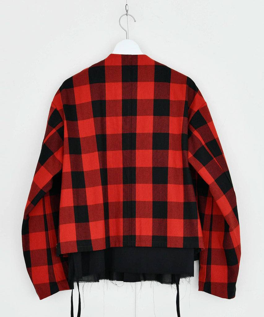 予約商品|Buffalo Check Twill Cotton Shirt Blouson