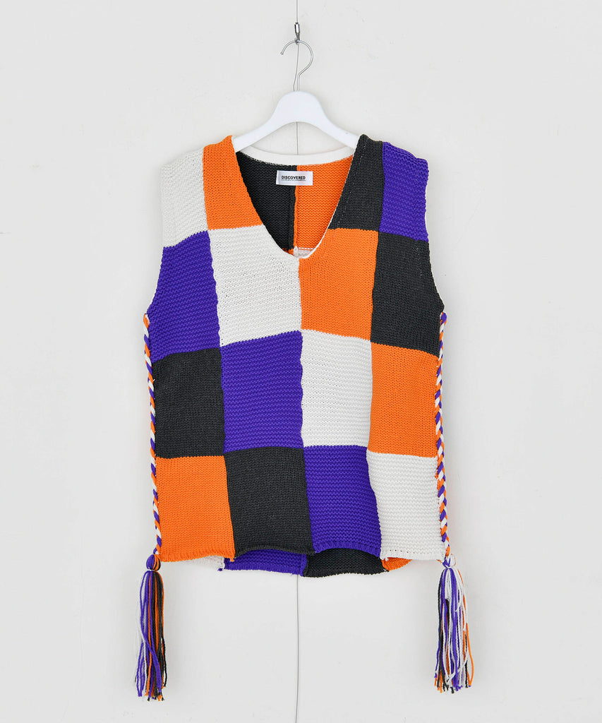 予約商品|Lily Yarn Block Knit Vest
