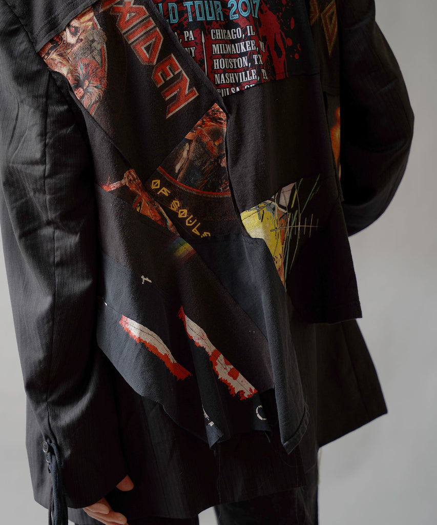 """newsed"" COLLAGE BAND TEE JACKET"