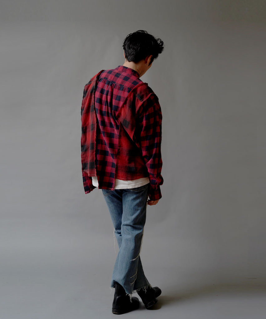 """newsed""STITCH DENIM PANTS"