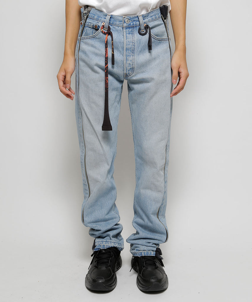 """newsed"" Zip pants[B]"