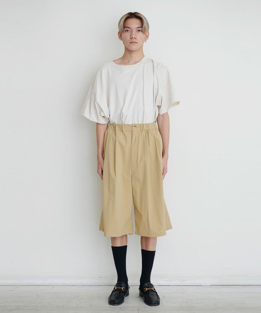予約商品|Limonta Nylon 2tuck Wide Shorts
