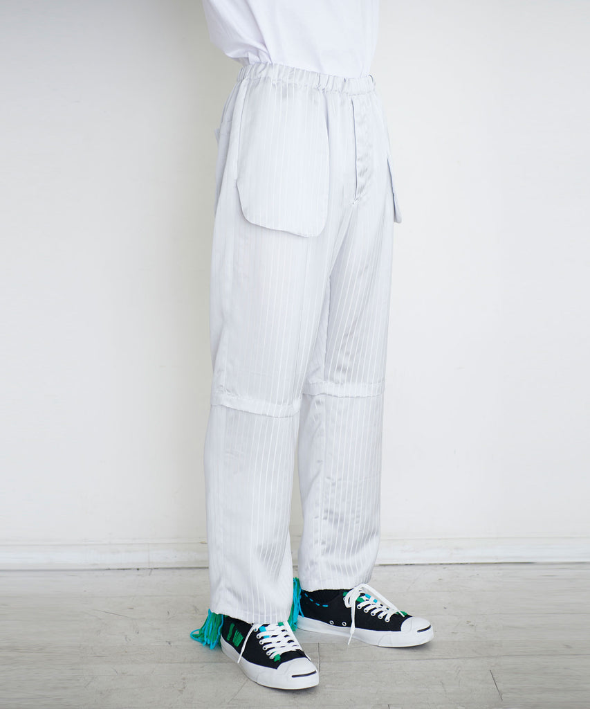 予約商品|Satin Stripe Pajama Easy Pants