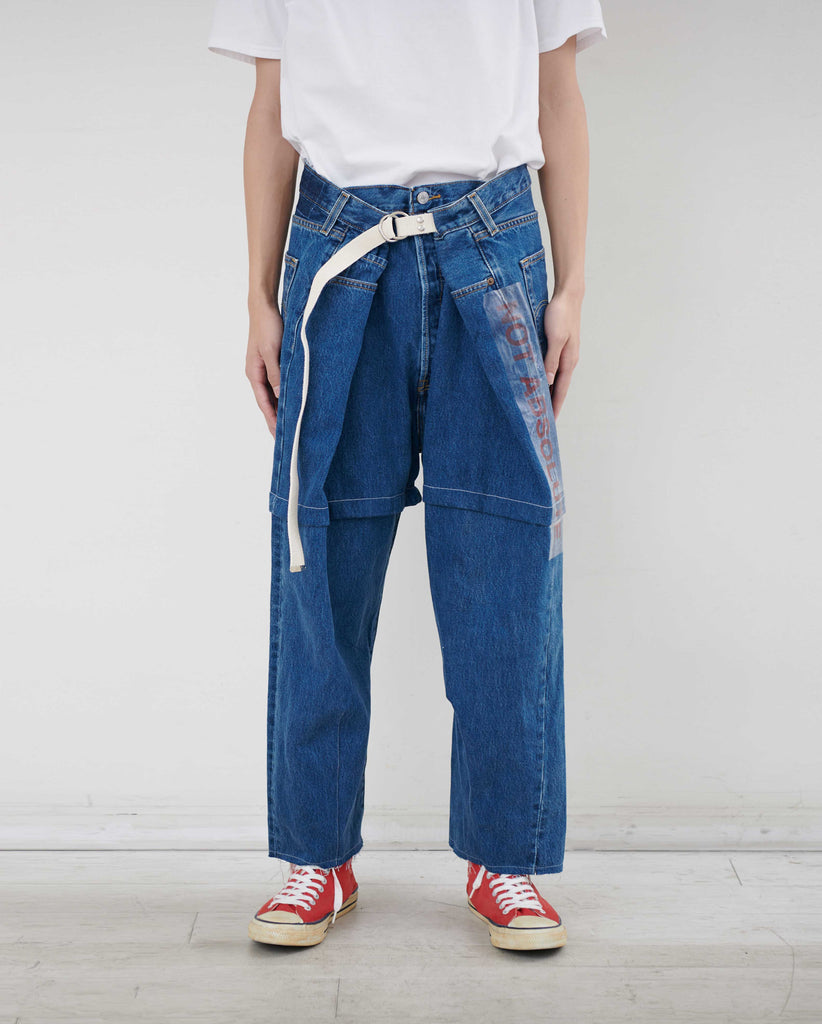 """newsed"" Belt Wide Pants"