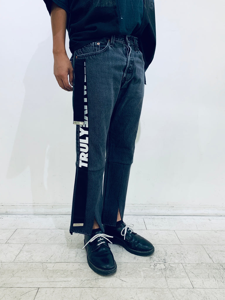 """newsed"" Belt slit Pants"