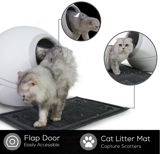 NOVA Cat Litter Box, Gray