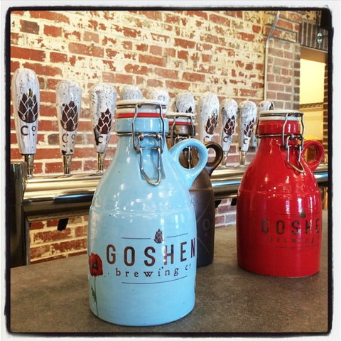 Goshen Brewing Growlers