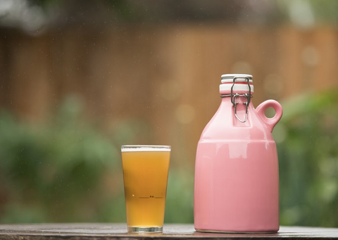 Pink Loop Ceramic Growler