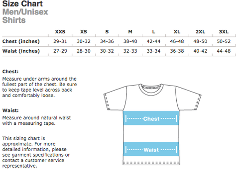 American Apparel Size Chart