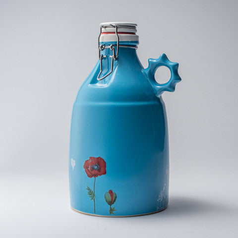 64 oz Blue Poppy Growler