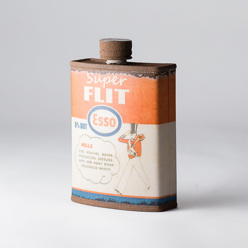 Porcelain Esso Flask