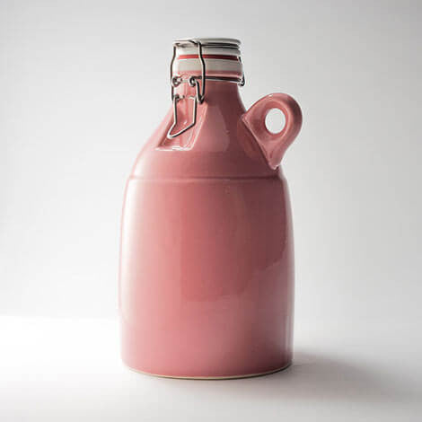 64oz Gloss Pink Loop Growler with Flip Top Lid