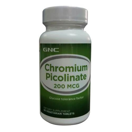 GNC CHROMIUM PICOLINATE 200 MCG 90 VEGERTARIAN TABLETS