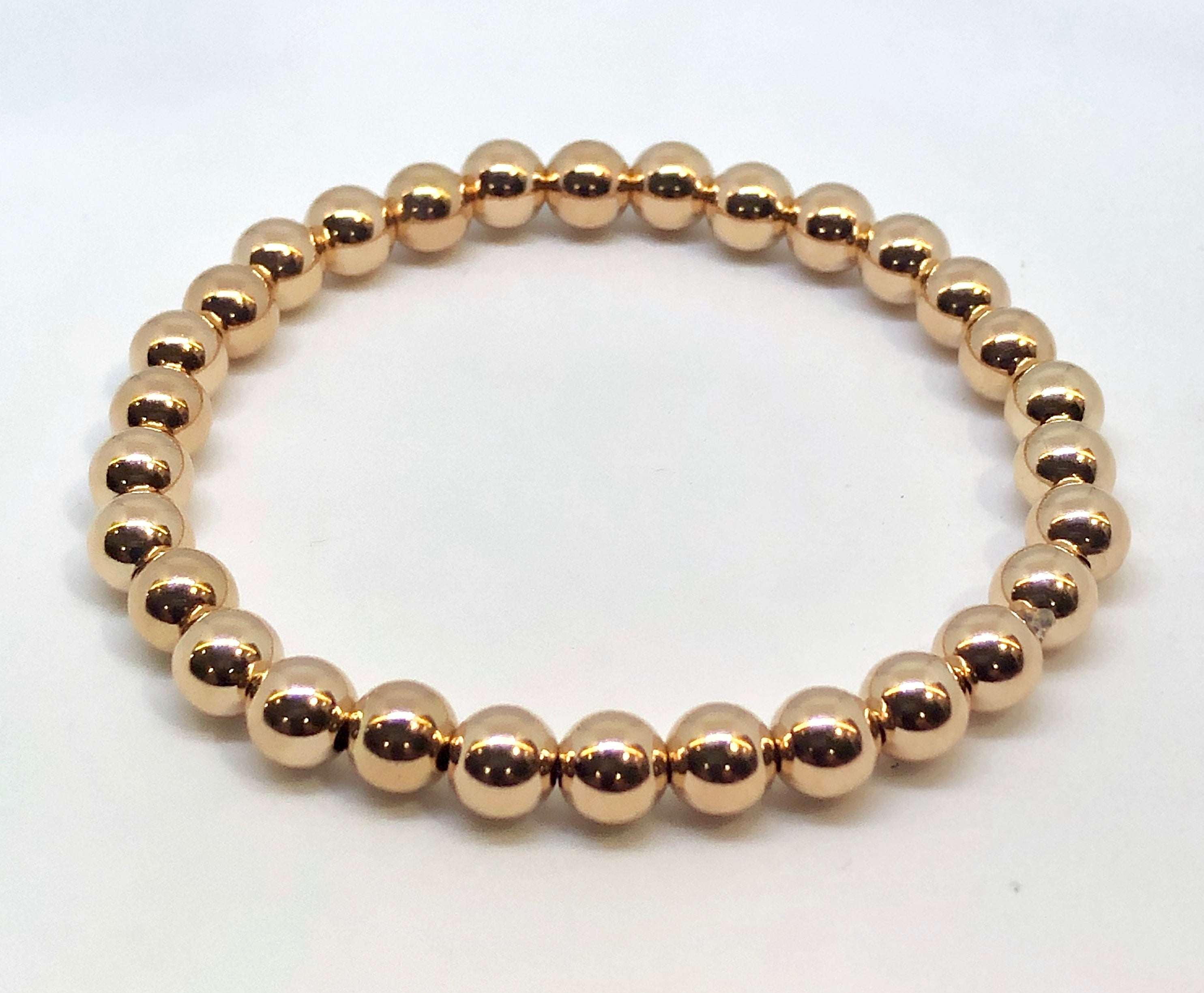 6mm Rose Gold Filled Bracelet