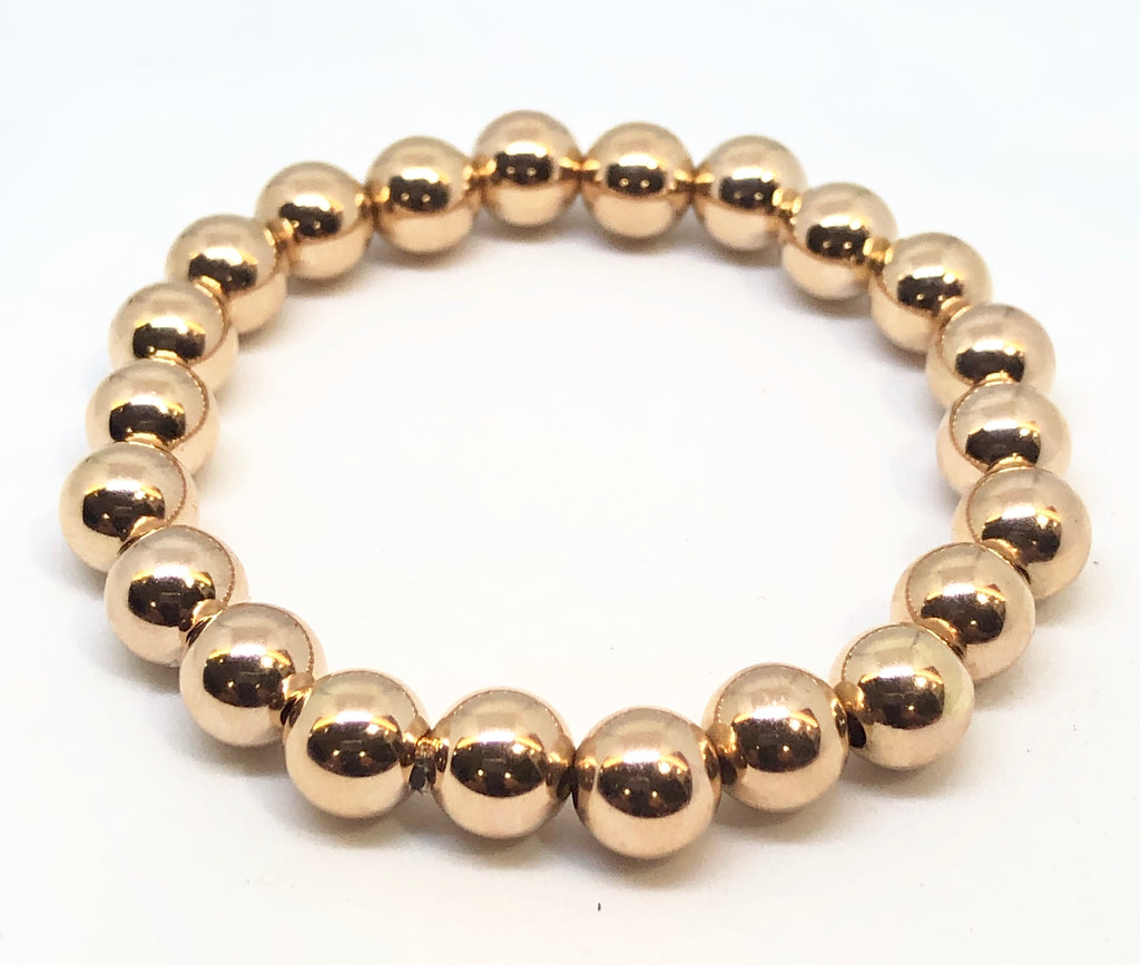 8mm Rose Gold Filled Bracelet
