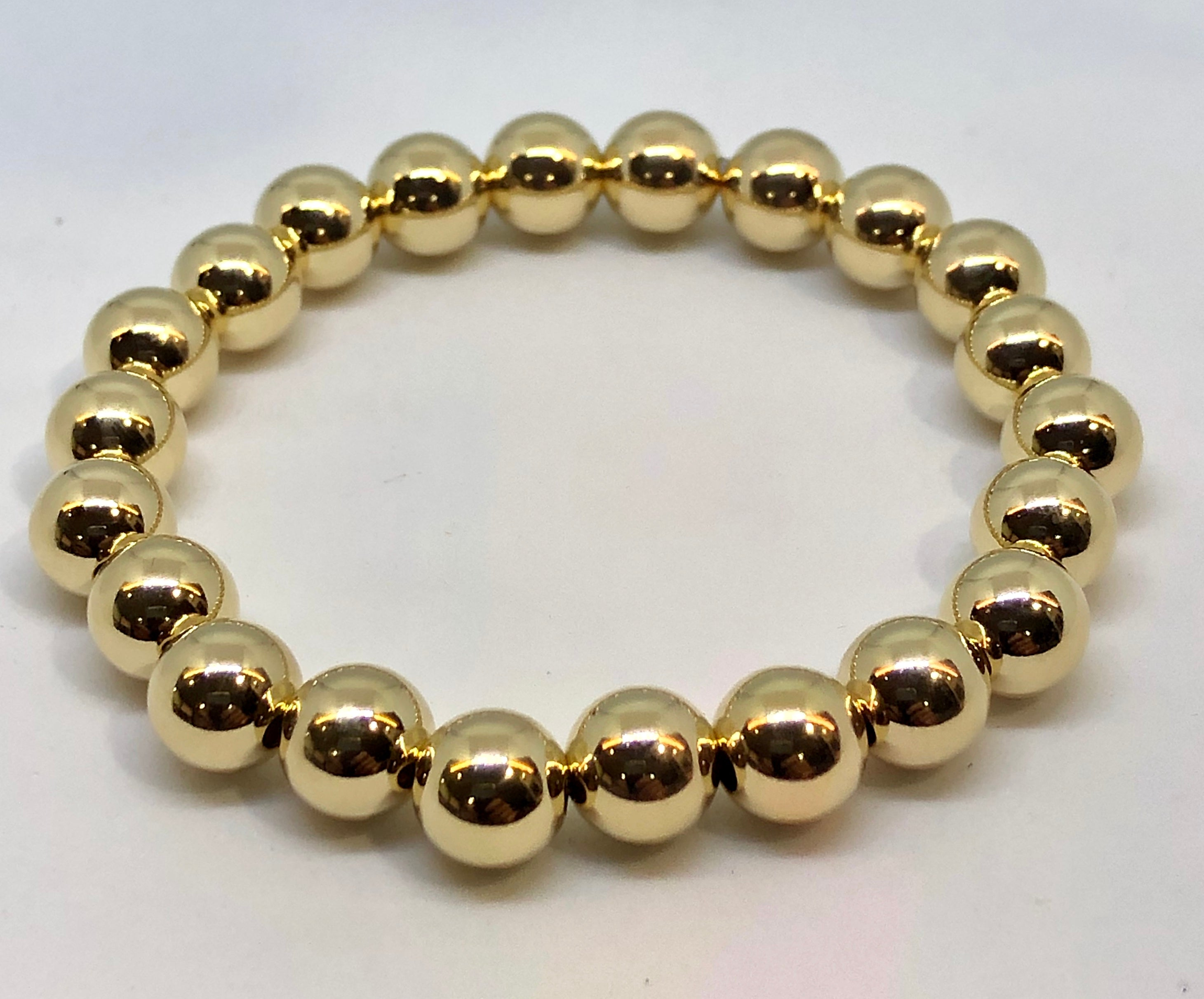 8mm 14kt Gold Filled Bead Bracelet