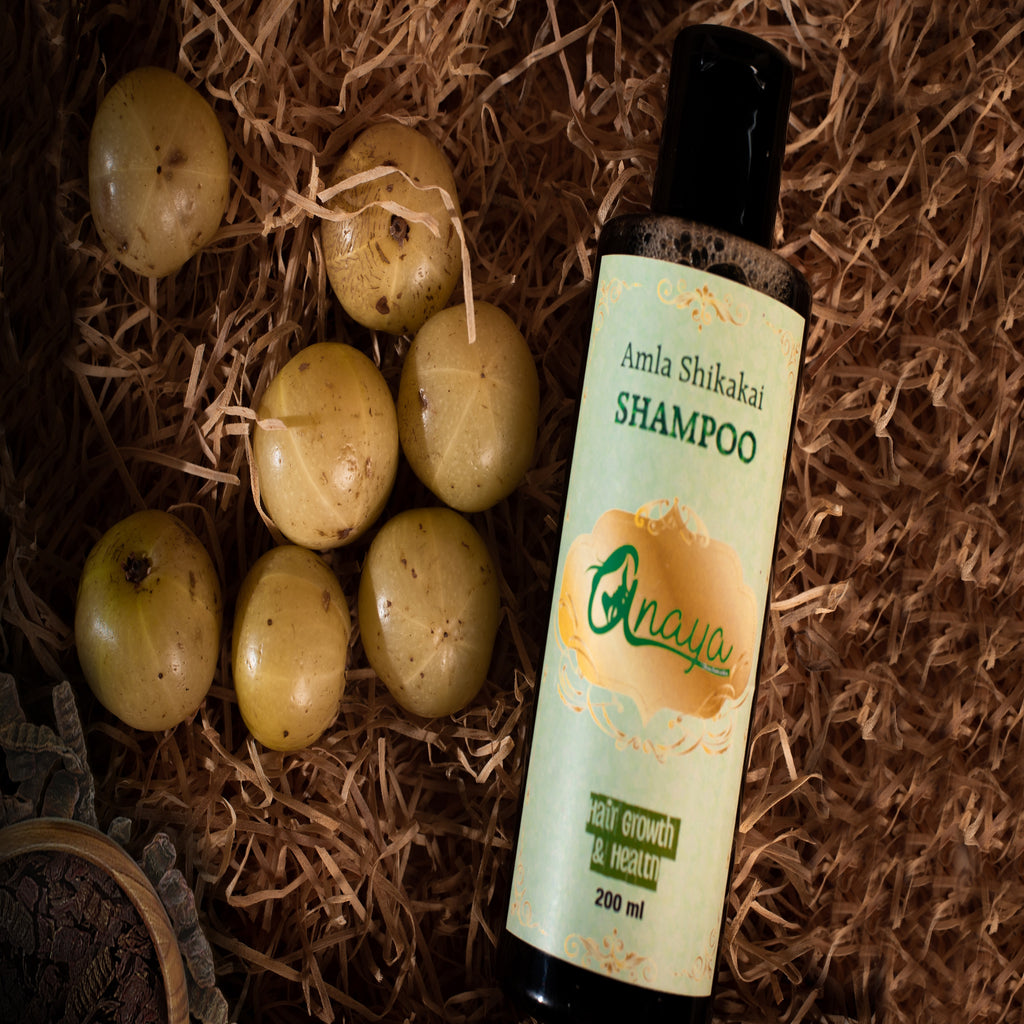 ANAYA Amla Shikakai Shampoo with the Finest Ayurvedic Ingredients