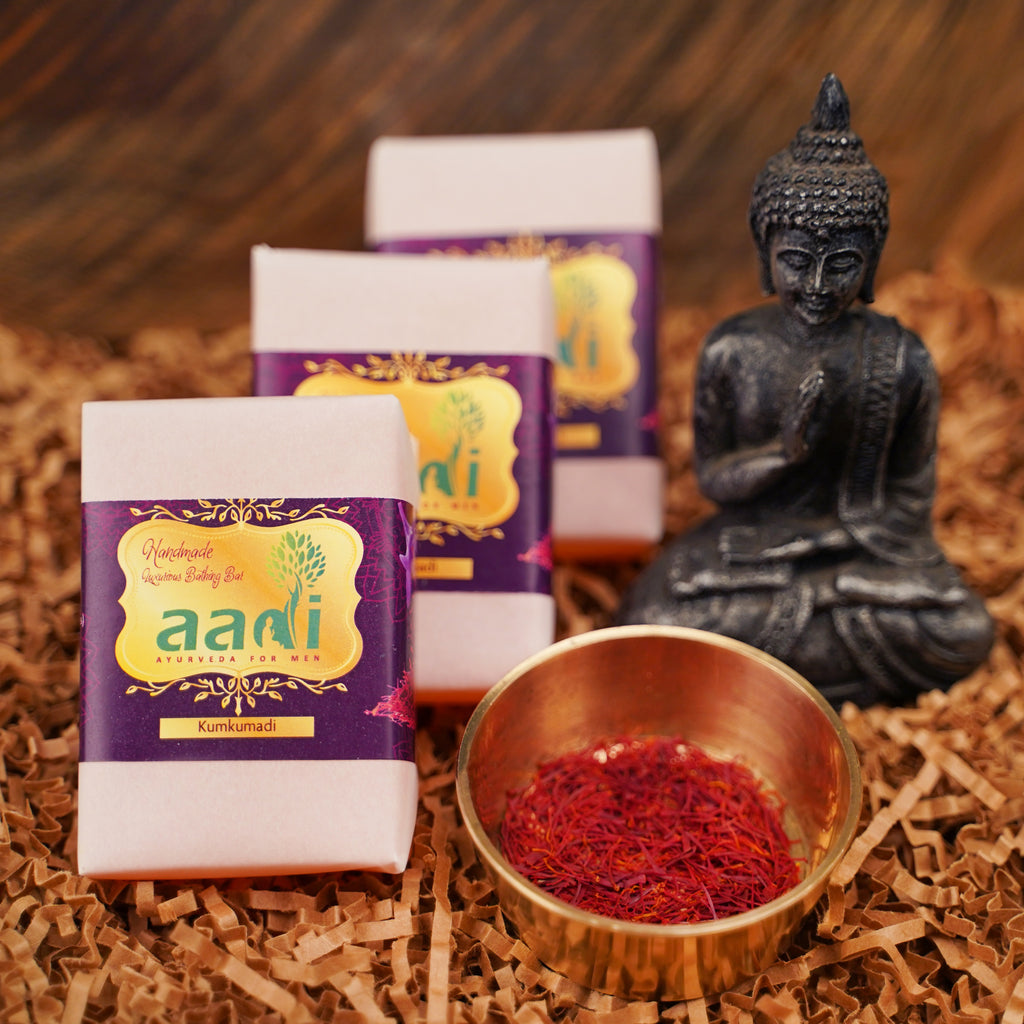 AADI Kumkumadi Luxurious Handmade Bathing Bar with the Finest Ayurvedic Ingredients (Pack of 2)