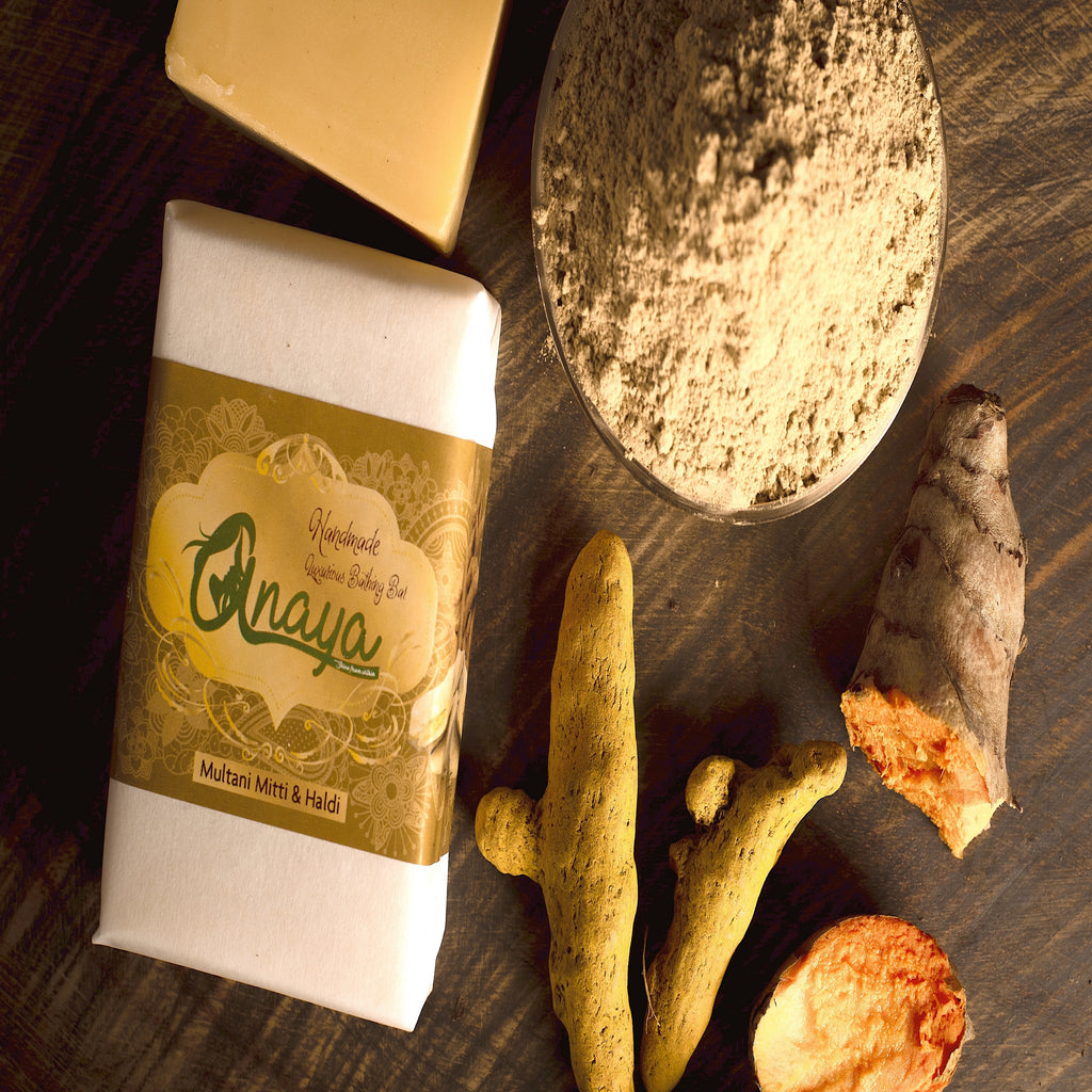 ANAYA Multani Mitti & Haldi Luxurious Handmade Bathing Bar with The Finest Ayurvedic Ingredients