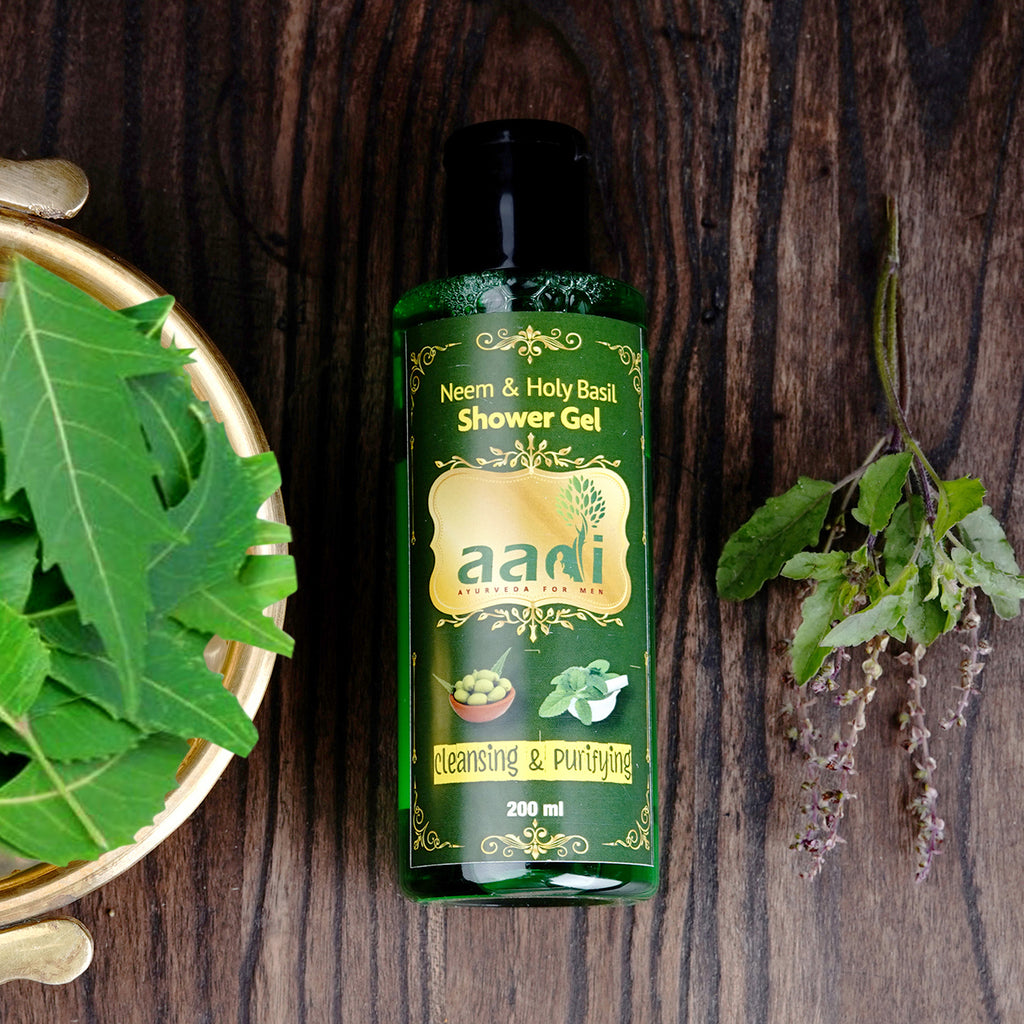 AADI Neem & Holy Basil Shower Gel with the Finest Ayurvedic Ingredients (200 ml)