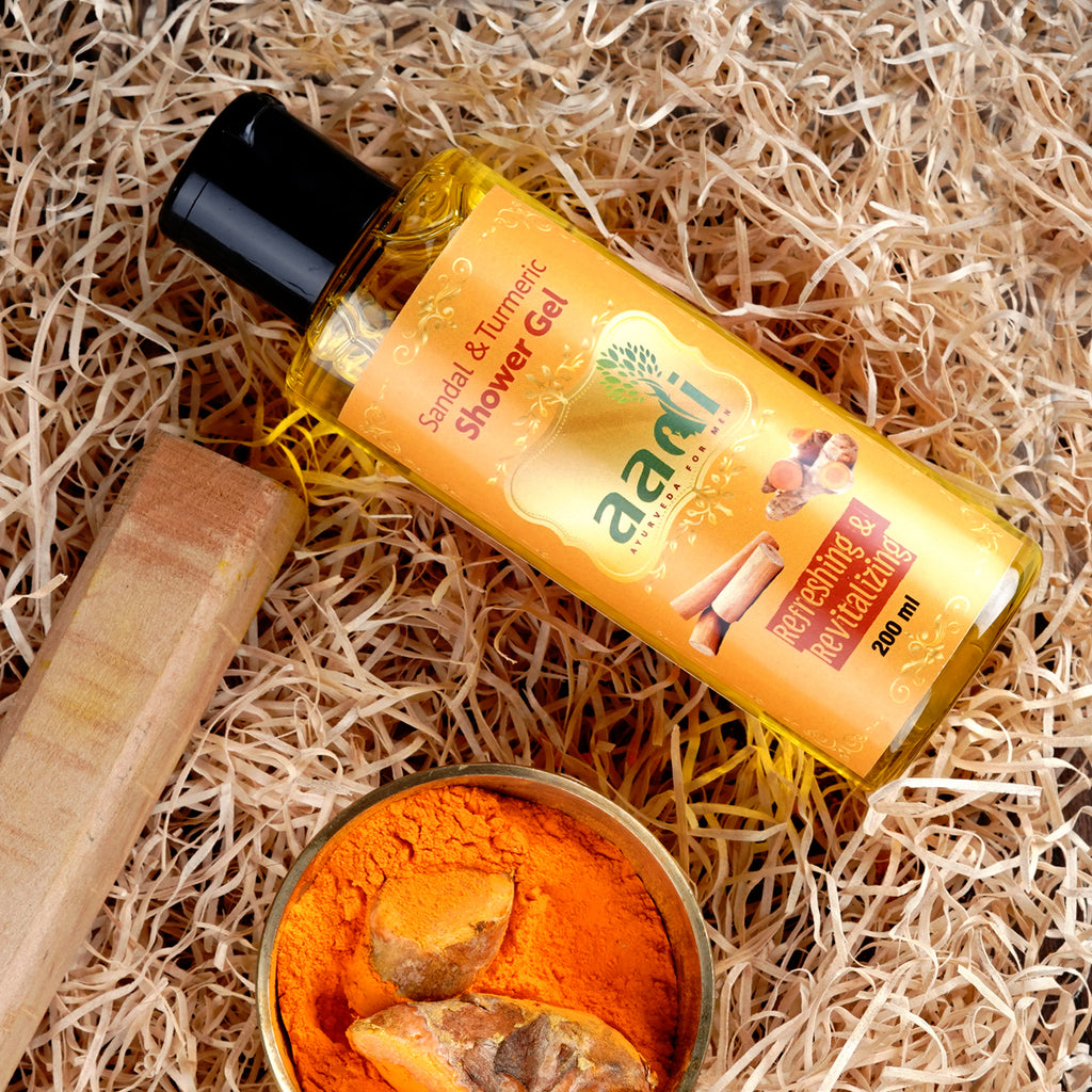 AADI Sandal & Turmeric Shower Gel with the Finest Ayurvedic Ingredients (200 ml)