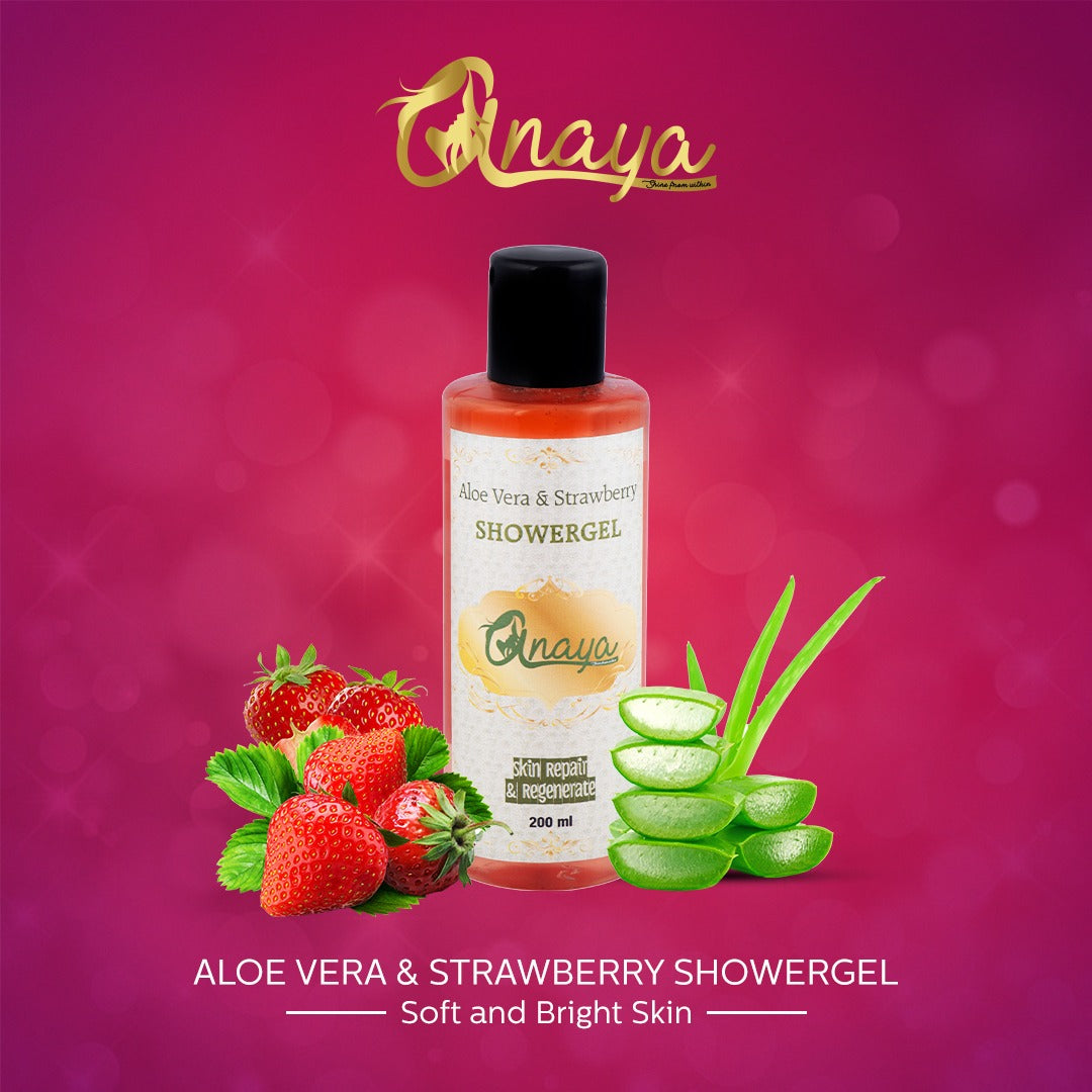 ANAYA Aloe Vera & Strawberry Shower Gel with the Finest Ayurvedic Ingredients