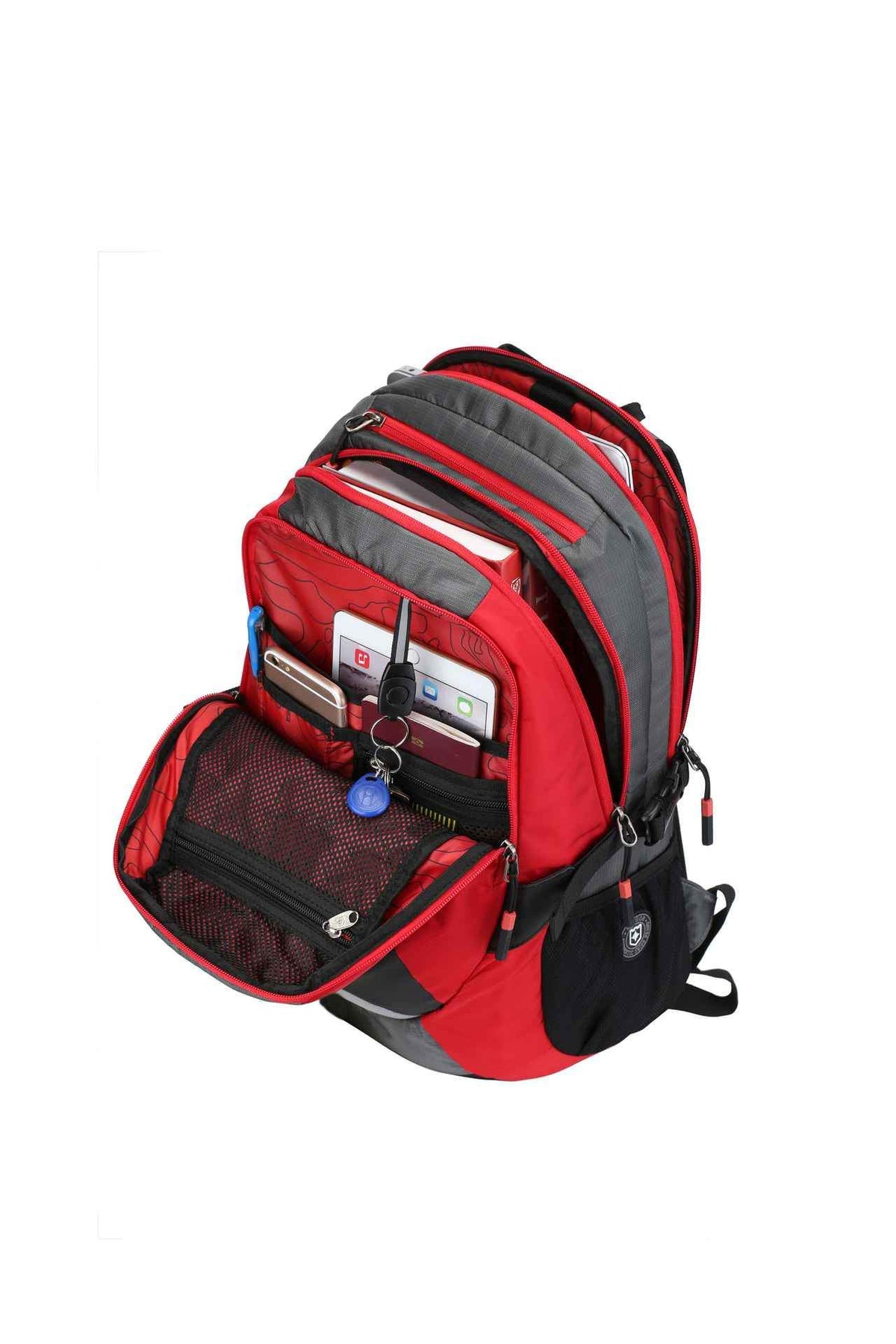 RUIGOR ACTIVE 29 Laptop Backpack Red Grey