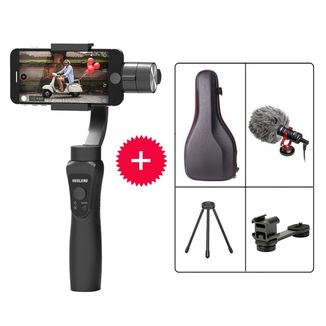 3-Axis Handheld Gimbal Stabilizer w/Focus Pull & Zoom